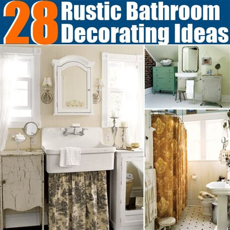Diy Bathroom Decor Ideas 28 Rustic Bathroom Decorating Ideas Diy Home Things