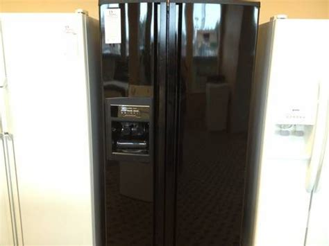 Kitchenaid Refrigerator No Water Kitchenaid Superba Black Side By Side Refrigerator With