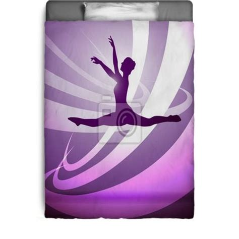 silhouettes gymnastics bedding girls bedroom pinterest