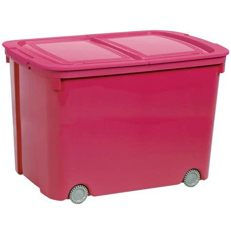 curver bee tidy pink  plastic storage box  wheels