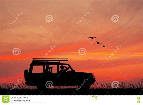 jeep sunset jeep adventure at sunset stock illustration image 78753447