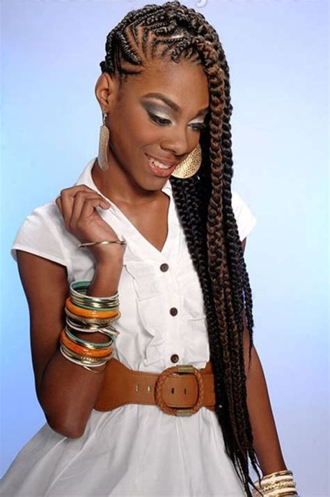 black ponytail hairstyles with twists amazing braided hairstyles for black women with ponytail