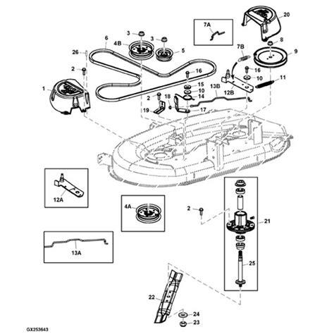 deere z225 parts diagram deere d100 lawn tractor parts for deere z225