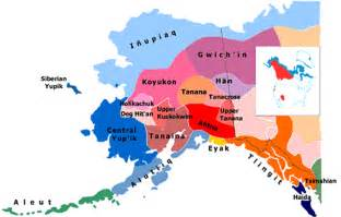 american tribes of alaska by map alaska languages index on www alaskool org