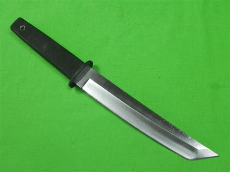 japanese steel knives japan japanese made cold steel oyabun tanto fighting knife sheath ebay
