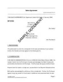 Sle Of Will Letter by Sales Agreement Nigeria Templates Agreements Contracts And Forms