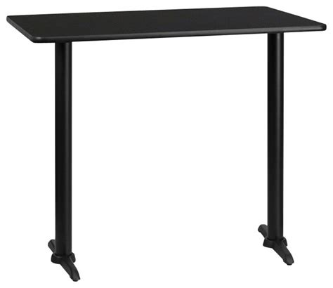 Rectangle Bar Table Flash Furniture 24 Inch X 42 Inch Rectangular Bar Table Traditional Bar Tables By Beyond