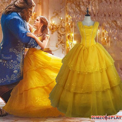 2017 movie beauty and the beast princess belle dress 2017 movie beauty and the beast princess belle cosplay
