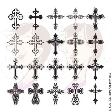 ornate cross tattoo cross digital clipart ornate christian orthodox