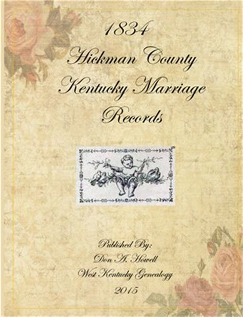 County Ky Marriage Records Hickman County Kent 1834 Hickman County Kentucky Marria Magcloud