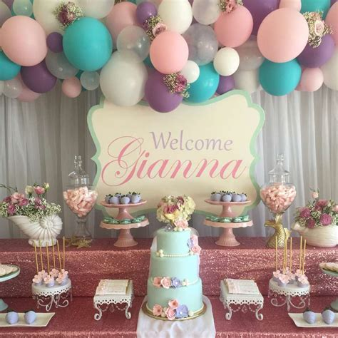 party themes baby shabby chic vintage mermaid baby shower party ideas