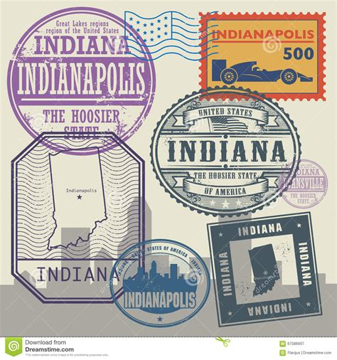 100 indiana usa state name indiana vector map st vector cartoondealer