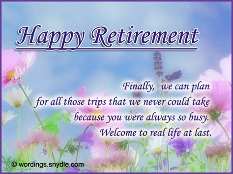 retirement wishes greetings and retirement messages