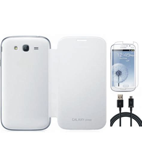 Flipcover Samsung Galaxy Grand I9082 Flipcase Samsung Grand I9082 matrix flip cover for samsung galaxy grand i9082 white with screenguard and usb data cable buy