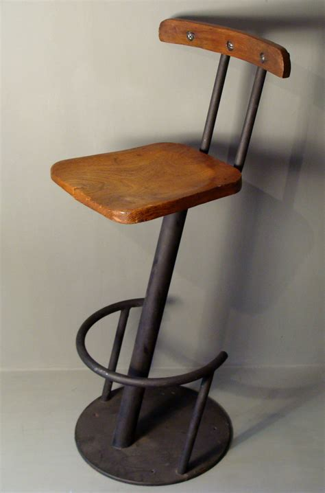 industrial steel wood bar stool astley house interiors