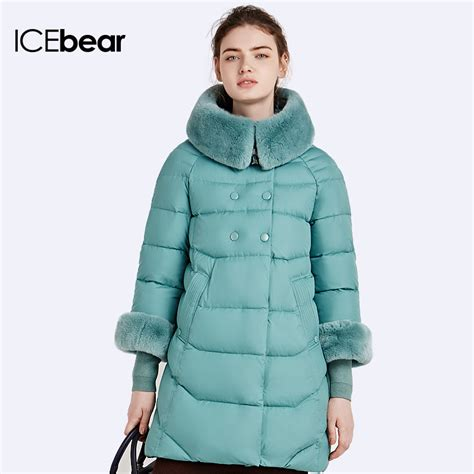 design line jacket online icebear 2016 rabbit fur collar detachable natural color