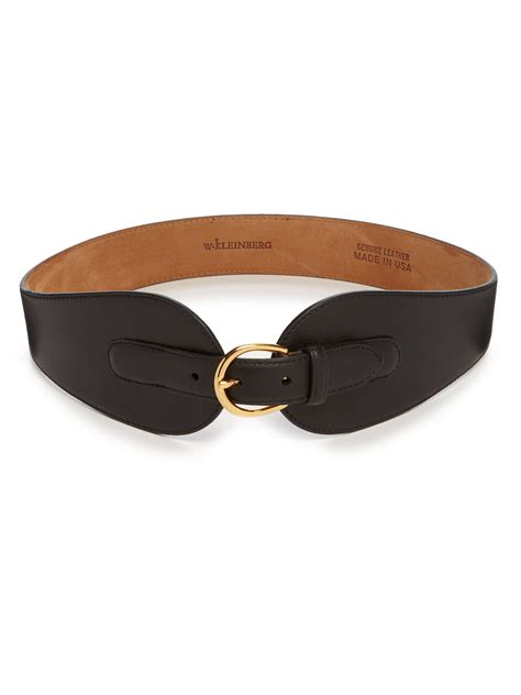 w kleinberg wide leather belt in black lyst