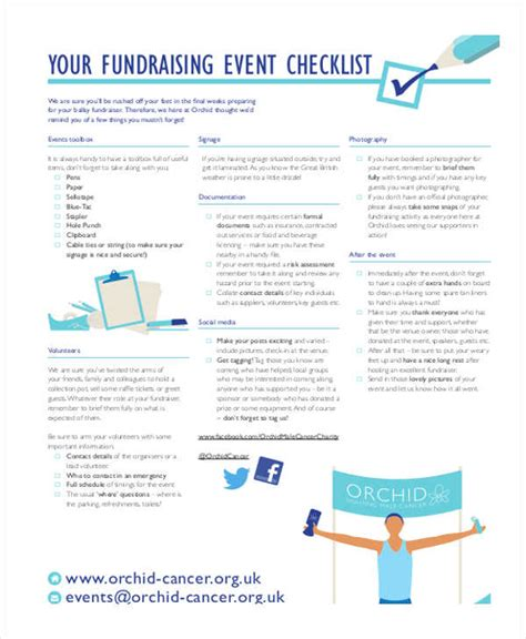 fundraising event planning checklist template 24 checklist templates in word free premium templates