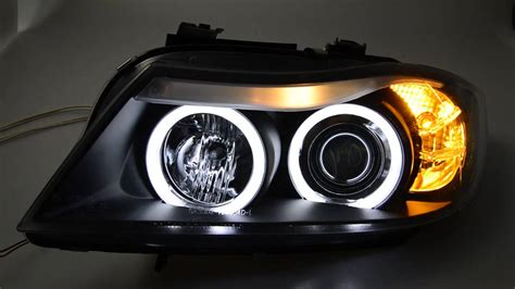 bmw e90 headlights sw ccfl eye headlights 3er bmw e90 e91black sw