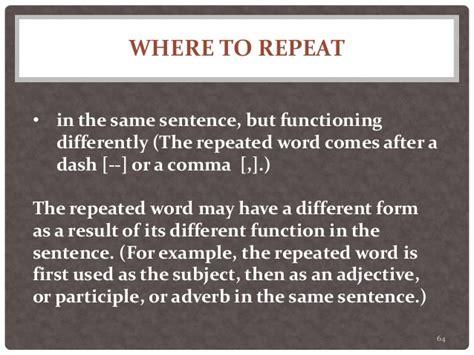 sentence pattern that repeats twenty sentence patterns a brief description of patterns