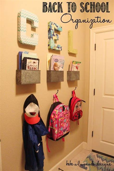 ideas for hanging backpacks 24 back to school organization ideas