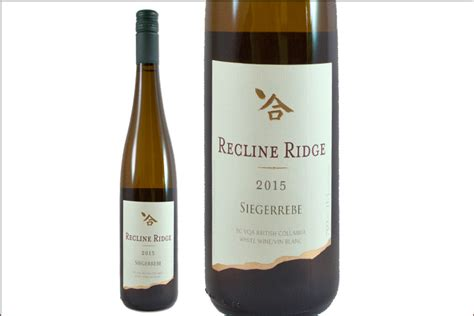 recline ridge winery recline ridge vineyards winery 2015 siegerrebe