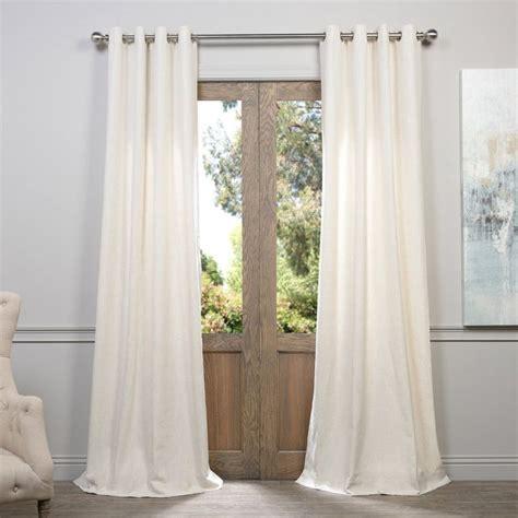 Faux Linen Curtains Exclusive Fabrics Furnishing Grommet Heavy Faux Linen Curtain Panel Window Treatments