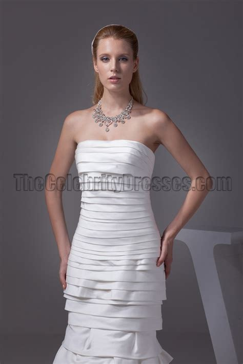 Emmy Trends Strapless by Discount Mermaid Strapless Chapel Wedding Dresses