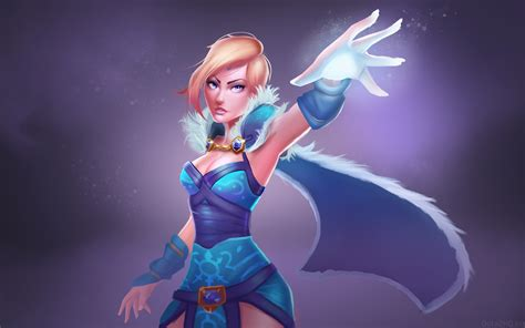 dota 2 rylai wallpaper rylai the crystal maiden dota 2 wallpapers