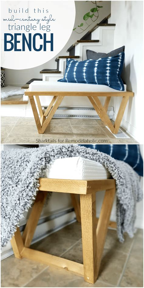 diy mid century bench remodelaholic build this mid century inspired triangle