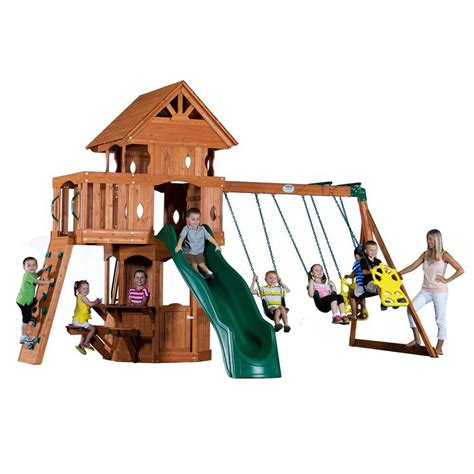 backyard discovery woodland backyard discovery woodland all cedar playset 6014com