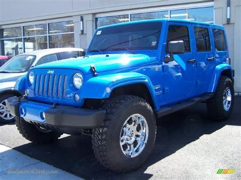 Black Jeep Car 2011 Jeep Wrangler Unlimited 4x4 In Cosmos Blue