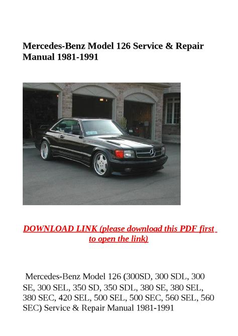 car repair manuals online pdf 1987 mercedes benz sl class instrument cluster mercedes benz model 126 service repair manual 1981 1991 by dniel toen issuu