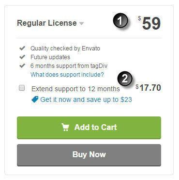 enfold theme license 워드프레스 themeforest의 regular license의 비용 구성 잡다한 이야기들