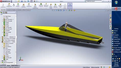solidworks tutorial boat stepped hull boat solidworks stl 3d cad model grabcad