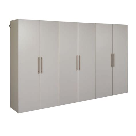 home depot garage cabinet prepac hangups 72 in h x 108 in w light gray wall mounted storage cabinet set e light grey
