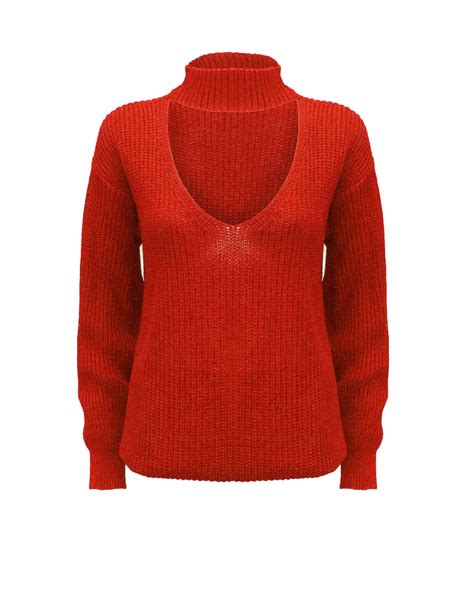 chunky knit jumper womens knitted choker neck chunky knit jumper top
