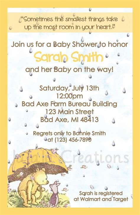 Classic Winnie The Pooh Baby Shower Invites by Classic Pooh Series Baby Shower Invitation Winnie The