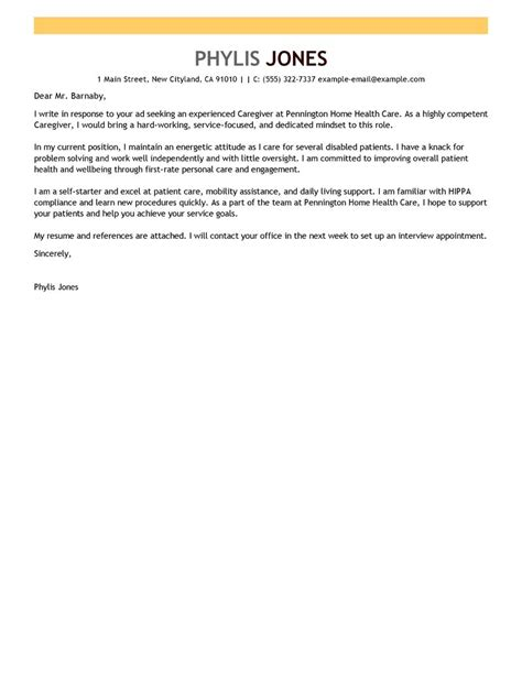 cover letter for a caregiver caregiver cover letter exles wellness cover letter