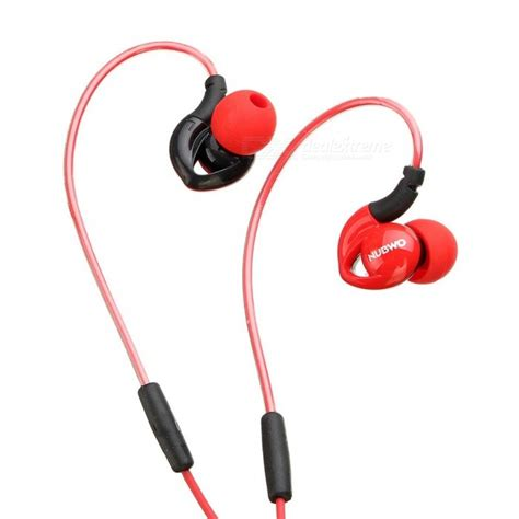 nubwo ny51 sports waterproof headset bass headphones in ear earphone with mic for iphone