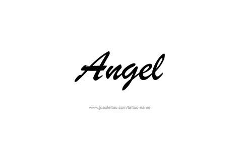 angel name tattoo name designs