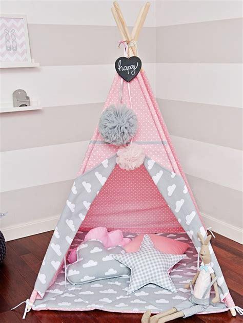 tipi tent rose de nuages jeux jouets par handmade