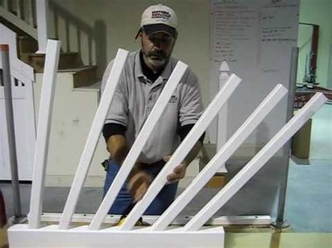how to install stair banister ask southern part 1 of 3 how to install a stair rail system youtube