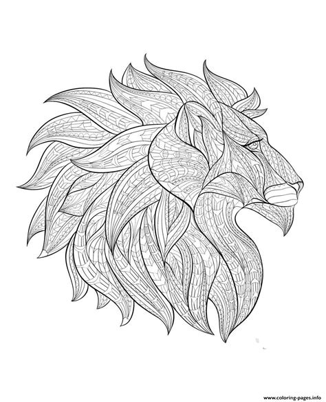 lion coloring page for adults adult lion head profile coloring pages printable