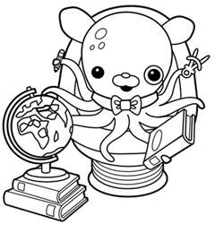 octonauts coloring pages octonauts professor inkling coloring pages printable
