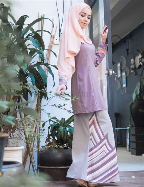 Baju Kurung Moden Warna Pastel baju kurung moden pastel warna dusty purple renee