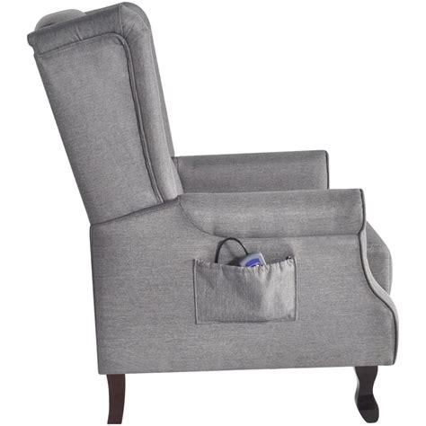 poltrona tv articoli per poltrona tv massaggio in tessuto grigio