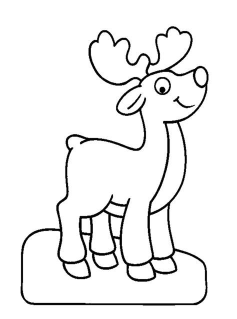 dibujos navideños para pintar renos dibujos de animales 174 para colorear imprimir y pintar