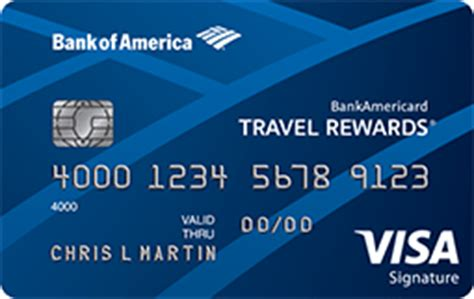make my trip credit card offers bankamericard travel rewards 174 credit card from bank of america