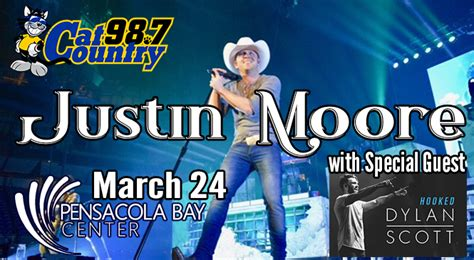 justin moore fan club cat country 98 7 pensacola s country music association